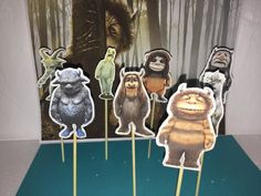 #WhertheWildThings Are cupcake topper, party solution decoration, theme cupcake, birthday cupcake toppers, Wid things inspired | Happy Party