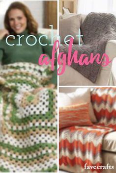 Afghan patterns for every room and every season! Check out the collection!