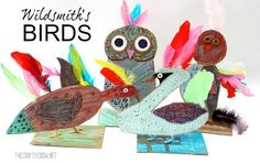 I've been teaching an after-school art class and am loving working with young kids again. One of the first lessons we did was inspired by one of my very favorite artists, Brian Wildsmith and specifically his book, BIRDS . I...