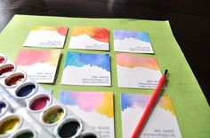 Watercolor Business Cards.  Very simple.  Absolutely unique.