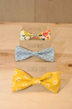 Smitten on paper - how to make a bow tie. no sewing machine needed.
