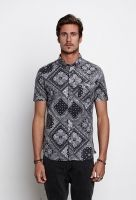 Bandana Print S/S Button-Up  $78.00 Bandana's aren't just for your back pocket and neck anymore. Check out Zanerobe's Bandana S/S Button Up - button down collar and button down front chest pocket all on a washed black bandana print cotton.