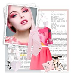 """""""A quote is a handy thing to know.""""... by unamiradaatuarmario on Polyvore featuring moda, Kenzo, Maison Kitsuné, Gianvito Rossi, Pink, kenzo, viviennewestwood, GianvitoRossi and Spring2015"""