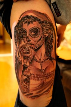 The work of Southern California-based tattoo artist, Jose Lopez. Lopez started Lowrider Tattoo Studios, and now has 3 tattoo shops.
