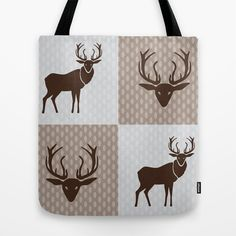The Forest King Brown Tote Bag by patterndesign - $22.00