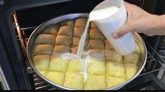 Ζεστή και αφράτη Τυρόπιτα με γάλα και 12 φύλλα. Απλά πεντανόστιμη! Turkish Recipes, Greek Recipes, Appetisers, Dessert Recipes, Desserts, No Bake Cake, How To Make Cake, Bakery, Food And Drink