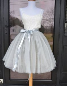 Beautiful tulle skirt in women's sizes including plus sizes. Skirt is made of 6 layers of the highest quality tulle and is fully lined with an elastic waist. Available in ladies sizes small thru L. This is a KNEE length. Satin sash is included. Grey Tulle Skirt, Tulle Wedding Skirt, Wedding Dresses, Edwardian Dress, Cute Skirts, Dance Outfits, Party Outfits, Skirt Fashion, Designer Dresses