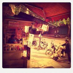 Grocery shop. Banana n eggs n little snacks