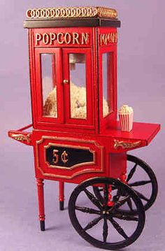 Old fashioned popcorn machine $102