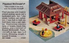 I think this was the McD's that I had, but as I recall, I think it was a handmedown from a neighbor or something.  The sign and the people were missing, as was the mat.