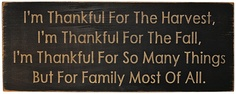 Thankful for Harvest Sign - Kruenpeeper Creek Country Gifts(maybe we could put this on a paper and have the kids color on it or something)