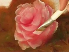 Pintando Rosas - Parte 1 - Óleo sobre tela por Shirley Sbeghen