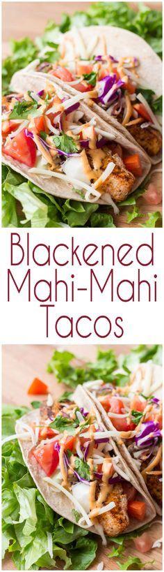 Blackened Mahi-Mahi Tacos with a Chipotle Mayo