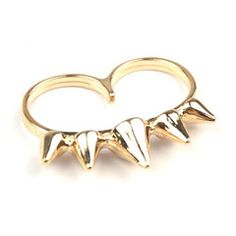 Quin Crown Double Ring, S$ 6.00 from fourtwelve.com.sg Korean Accessories, Double Ring, Gold Rings, Rose Gold, Crown, Bracelets, Jewelry, Corona, Jewlery