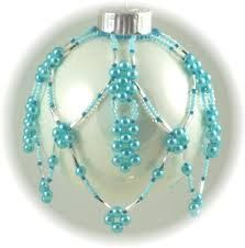Free Ornament Cover Pattern with Twin Beads featured in Bead ...