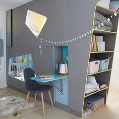 Ideas for boys bedrooms Kids Bedroom Designs, Kids Room Design, Kids Bunk Beds, Awesome Bedrooms, Kid Spaces, Kids House, Boy Room, Modern Interior, Interior Designing