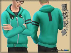 The Sims Resource: Coat Tokyo Ghoul by bukovka • Sims 4 Downloads