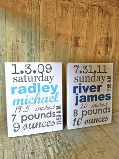 Perfect New Baby/Mom gift. Baby Subway Art  Wood  Birth Announcement by HalosHaven on Etsy, $36.00