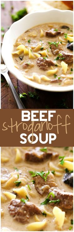 Business Cookware Ought To Be Sturdy And Sensible Beef Stroganoff Soup. This Soup Is A Fabulous Spin On A Classic Recipe. It Is Packed With Flavor And Is Absolutely Delicious It Is Wonderful On A Cold Day And Will Quickly Become A Family Favorite Chili Recipes, Slow Cooker Recipes, Crockpot Recipes, Soup Recipes, Cooking Recipes, Recipies, Le Diner, Soup And Sandwich, Rind