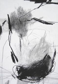 Série Approches, pierre noire sur papier, 110 x 75 cm, 2011