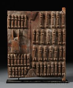 Africa   Granary door from the Dogon people of Mali   Carved wood
