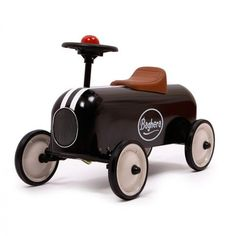 Racer Black Ride-on Metal from 1 year old. Perfect babyshower and birthday gift Baghera. Wooden Ride On Toys, Wood Toys, Pedal Cars, Race Cars, Modern Kids, Love Car, Kids Store, Get Outside, Toddler Toys