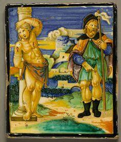 HEEMKUNDIGE SCHUTTERSKRING: Sint-Sebastiaan (Azulejo Céramique Faïence Maiolica)