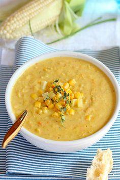 Healthy crockpot corn and potato chowder soup