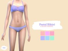 midnightskysims' Pastel Bikini Set | Sims 4 Updates -♦- Sims Finds & Sims Must Haves -♦- Free Sims Downloads