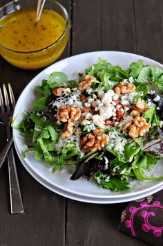 Spring Salad with Orange Vinaigrette by dineanddish #Salad #Orange #dineanddish