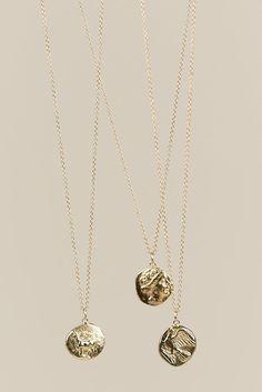 Chimera Coin Pendant, Gold - Kathryn Bentley