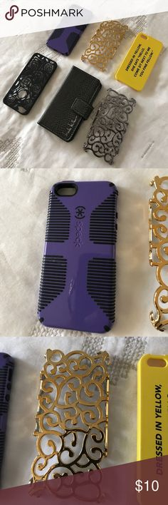 LOT of IPhone 5 cases Used iPhone 5 cell phone cases in great condition. Nicole Miller wallet case. Yellow- Kate Spade Saturday. Speck. Listing is for ALL cases bought as a LOT. Will not separate. Accessories Phone Cases
