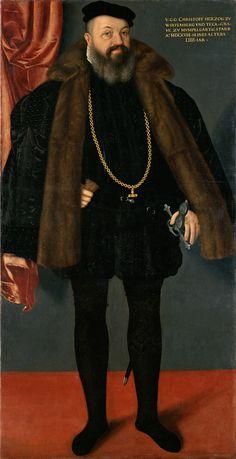 1568 Abraham Hel - Duke Christoph von Württemberg in Spanish costume Renaissance Mode, Renaissance Fashion, Renaissance Clothing, Renaissance Portraits, Renaissance Paintings, Historical Art, Historical Costume, Kunsthistorisches Museum Wien, Spanish Costume