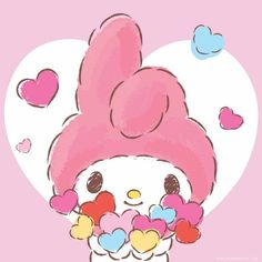 Have a sweet Valentines Day! My Melody Wallpaper, Hello Kitty Wallpaper, Badtz Maru, Melody Hello Kitty, Keroppi, Hello Sanrio, Baby Friends, Cartoon Outfits, 90s Cartoons