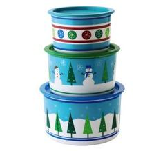 Tupperware | Merry Stacking Canister Set