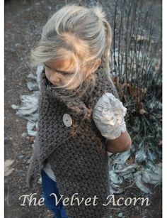 The Adelaide Wrap Toddler Child by Thevelvetacorn.... K I need to learn to knit and crochet!!!!