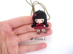 Collana Gorjuss (Suzanne Woolcott, polymer clay) by elvira-creations.deviantart.com on @deviantART