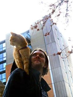 Out around in London spring time   - from FB page James Bowen & Street Cat Bob