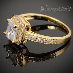18 К позолоченные кольцо австрийский обручальное обручальные кольца.