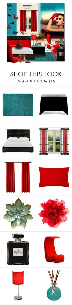 """A ROOM WITH A VIEW"" by angelflair ❤ liked on Polyvore featuring interior, interiors, interior design, home, home decor, interior decorating, Designers Guild, Heller, Safavieh and Ralph Lauren Home"