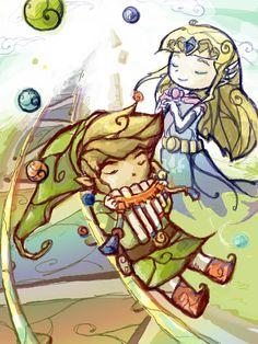 Zelda & Link from Spirit Tracks - セッション I like this.