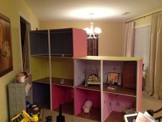 The American Girl Doll house we built.