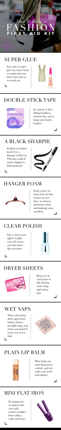 What Is Essential To Your Fashion First Aid Kit!