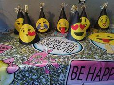 Emoji party hats