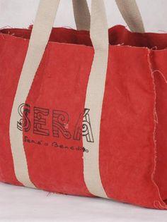 Sacola de lona de caminhão, ideal para compras, praia, picnic, viagens, etc. - por Sera o Benedito
