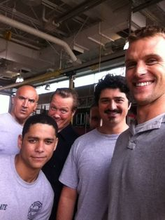 Jesse Spencer and the #ChicagoFire guys! http://img.ly/lgbB