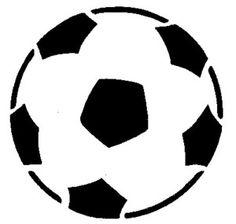 Pochoir Adhésif Home Déco 8 x 8 cm BALLON FOOT Soccer Ball, Ballons, Stencils, Template, Pebble Stone, Children, Embroidery, Stencil