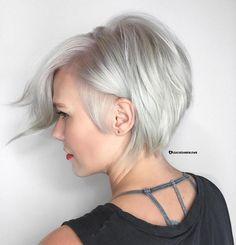 Short Silver Bob For Fine Hair