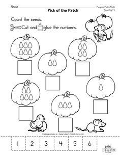 Recognizing numbers 1 6 5 preschool worksheets number for. Number Worksheets Kindergarten, Numbers Preschool, Fall Preschool, Math Classroom, Kindergarten Math, Math Activities, Preschool Activities, Educational Activities, Math Work