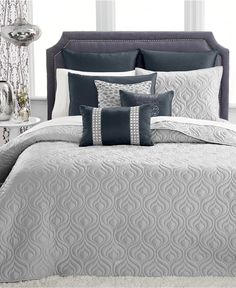 CLOSEOUT! INC International Concepts Rizzoli Midnight Coverlet Collection, Only at Macy's - INC International Concepts - Bed & Bath - Macy's